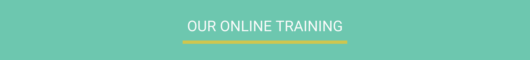 Our online training